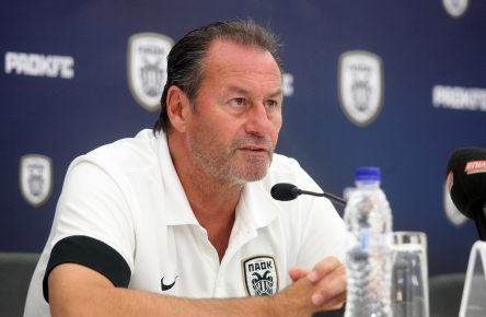 Dutch coach of PAOK Saloniki Huub Stevens