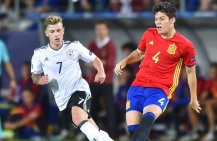 Max Meyer Jorge Mere during the UEFA European Under-21 final match between Germany and Spain on June 30, 2017 in Krakow, Poland. (Photo by MB Media) PUBLICATIONxINxGERxSUIxAUTxONLY Copyright: xMBxMediax