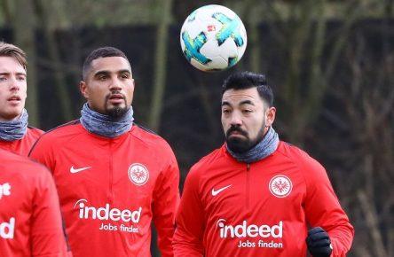 Kevin Prince Boateng und Marco Fabian in der Vorbereitung auf die Rückrunde 2017/18 Eintracht Frankfurt