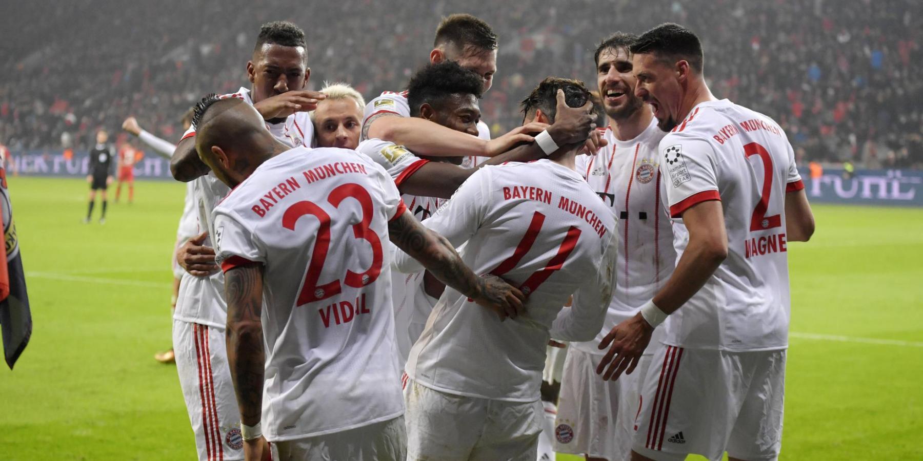 Die Bayern gewinnen gegen Leverkusen