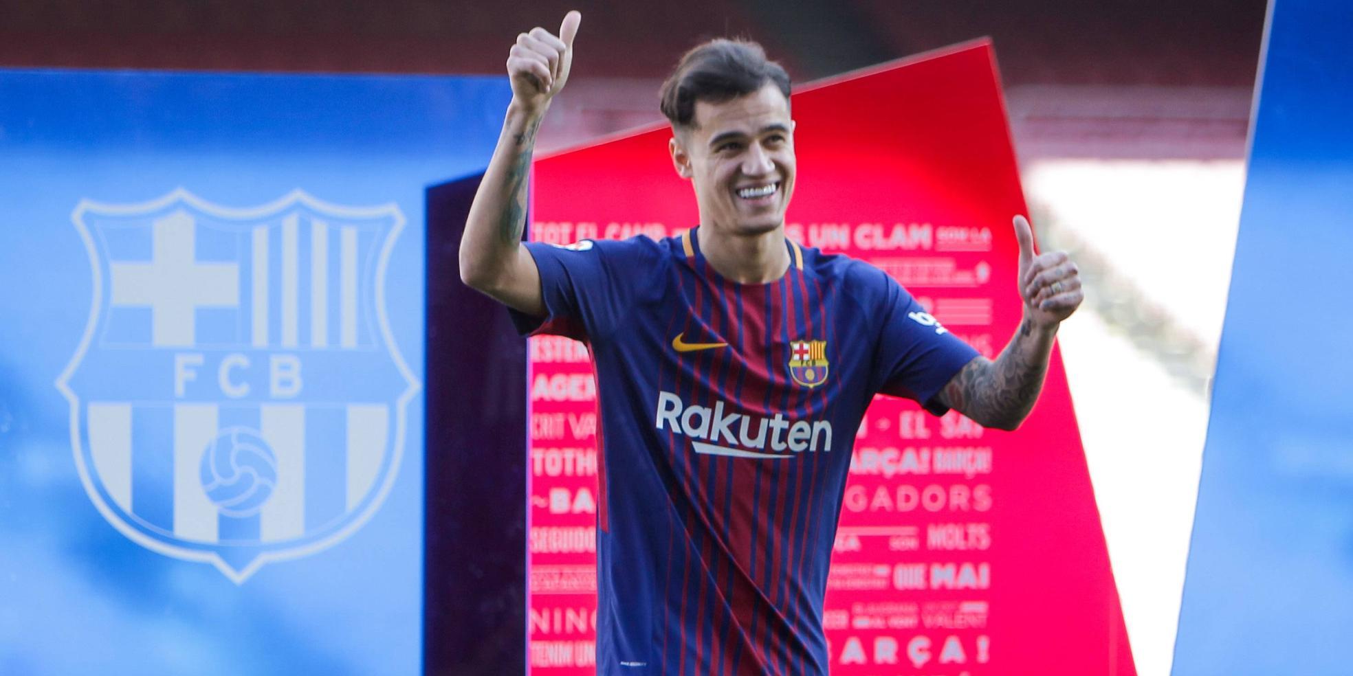 Philippe Coutinho wechselt für 160 Millionen Euro zum FC Barcelona