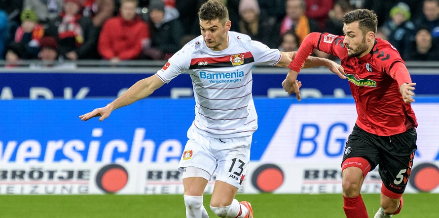 Zuletzt zweimal ohne Glück: Lucas Alario von Bayer Leverkusen
