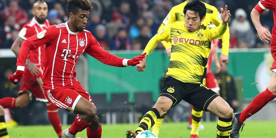 Gut aufgelegt: Coman und Kagawa aus München und Dortmund
