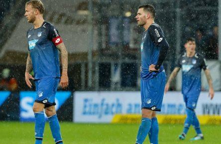 Läuft nicht: Kevin Vogt und Adam Szalai von der TSG Hoffenheim