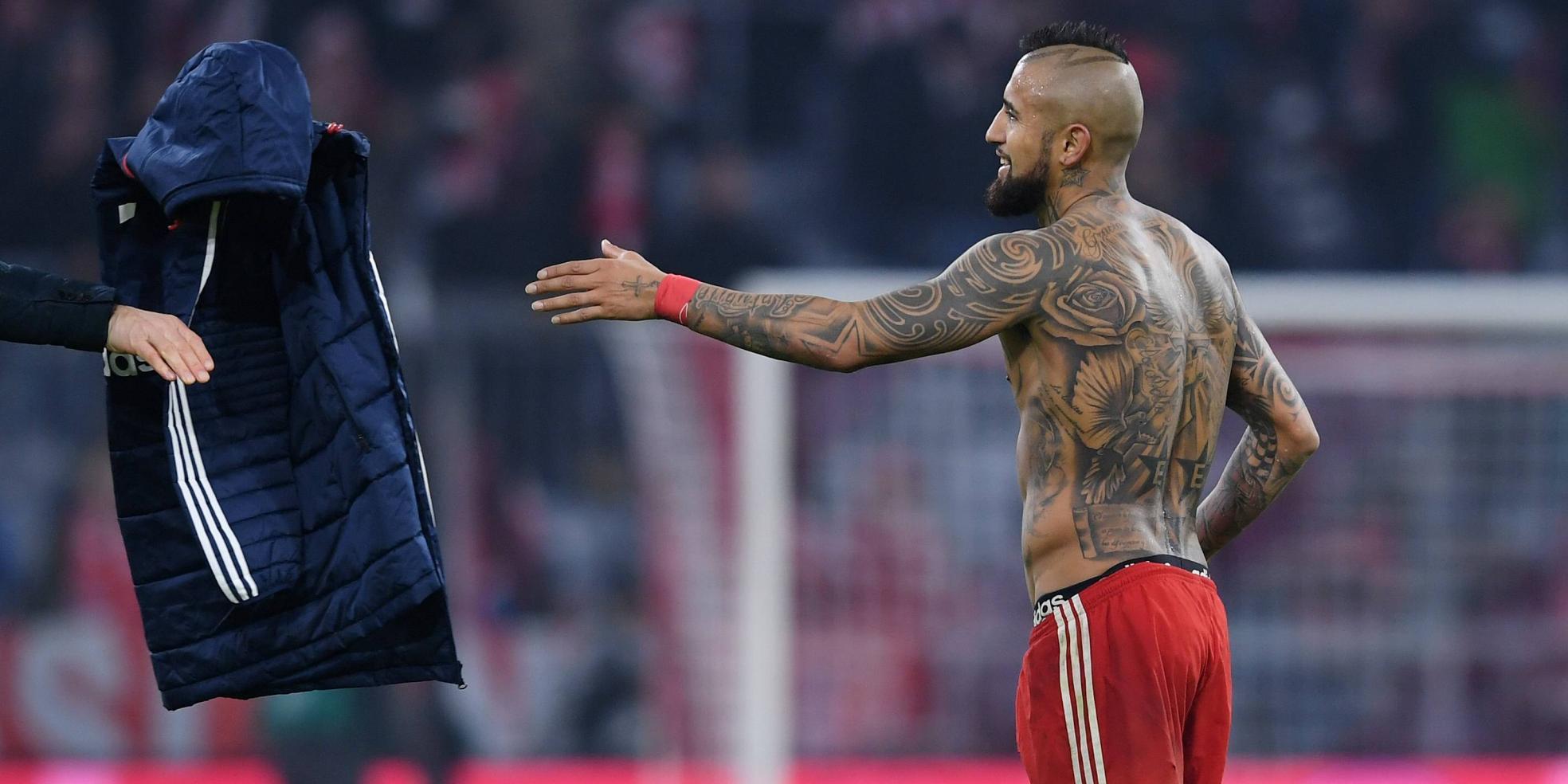 Arturo Vidal vom FC Bayern München