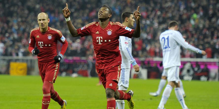 David Alaba traf gegen den FC Schalke doppelt.