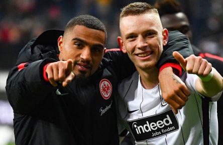 Kevin-Prince Boateng und Marius Wolf von Eintracht Frankfurt
