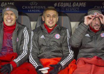 Robben, Rafinha und Ribery dürften gegen die Hertha wohl beginnen...