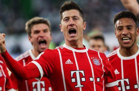 Robert Lewandowski schießt die Bayern zum Sieg gegen Wolfsburg