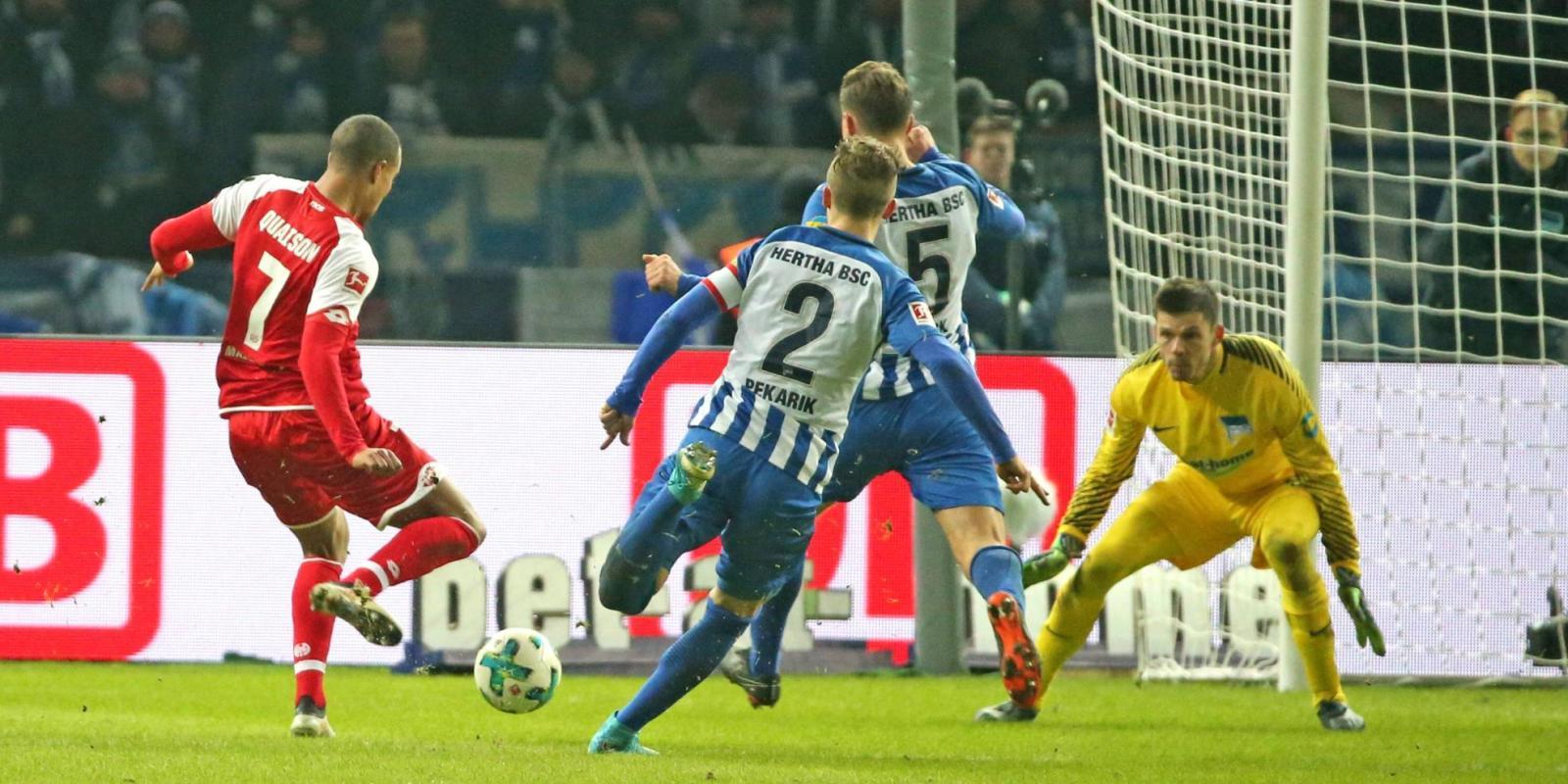 Robin Quaison schießt Mainz in Berlin zum Sieg