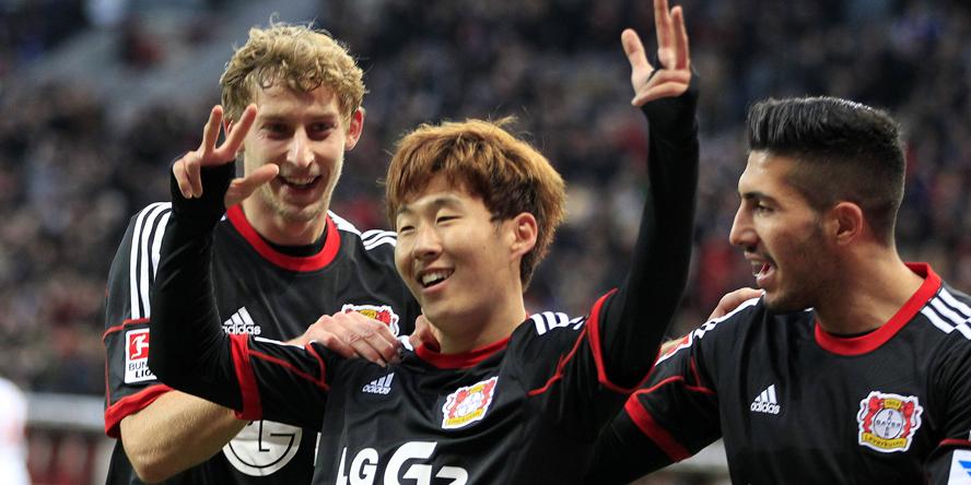 Heung-Min traf drei Mal gegen den HSV.