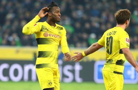 Michy Batshuayi und Mario Götze von Borussia Dortmund