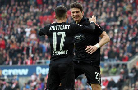Mario Gomez und Erik Thommy, die Leistungsträger der VfB-Offensive