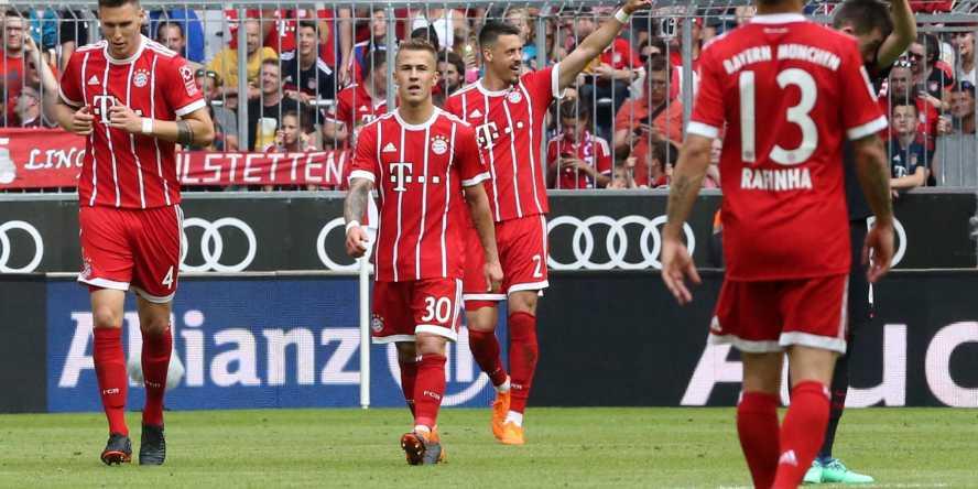 Der FC Bayern gewann am 32. Spieltag gegen Eintracht Frankfurt