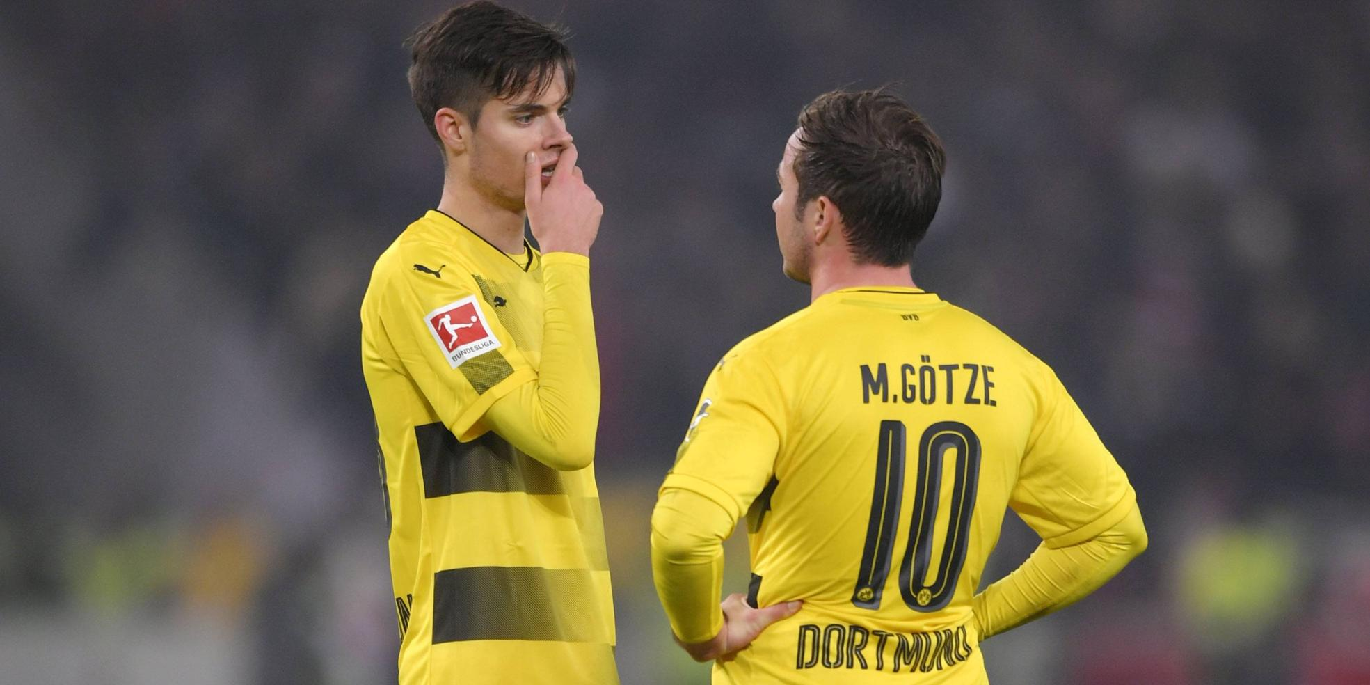 Julian Weigl und Mario Götze von Borussia Dortmund