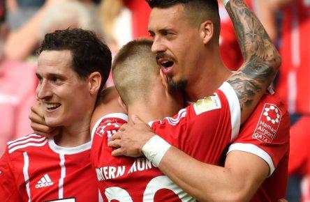 Sebastian Rudy und Sandro Wagner vom FC Bayern