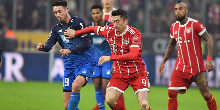 Auf dem Weg nach oben: Uth und Lewandowski von Schalke und Bayern