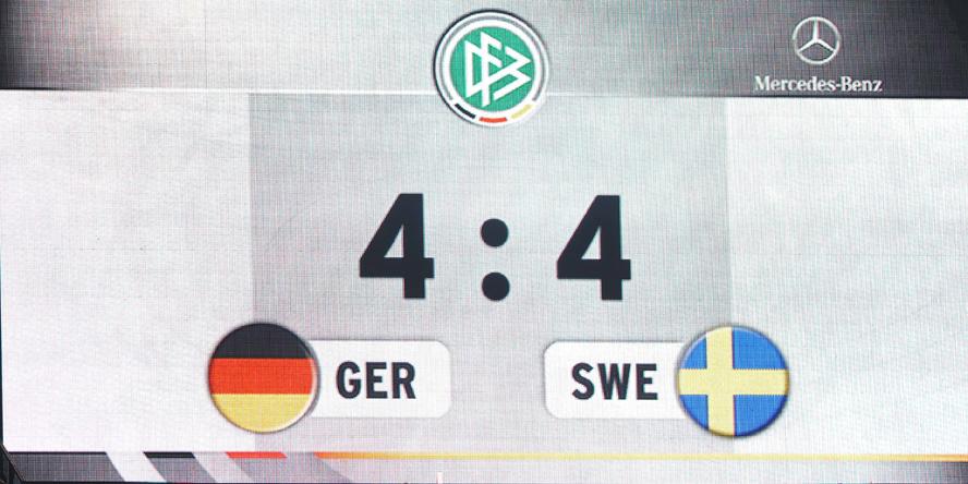 Das epische Ergebnis der DFB-Elf gegen Schweden von 2012.
