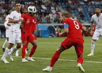Harry Kane köpfte die Three Lions in der Schlussminute zum Sieg.