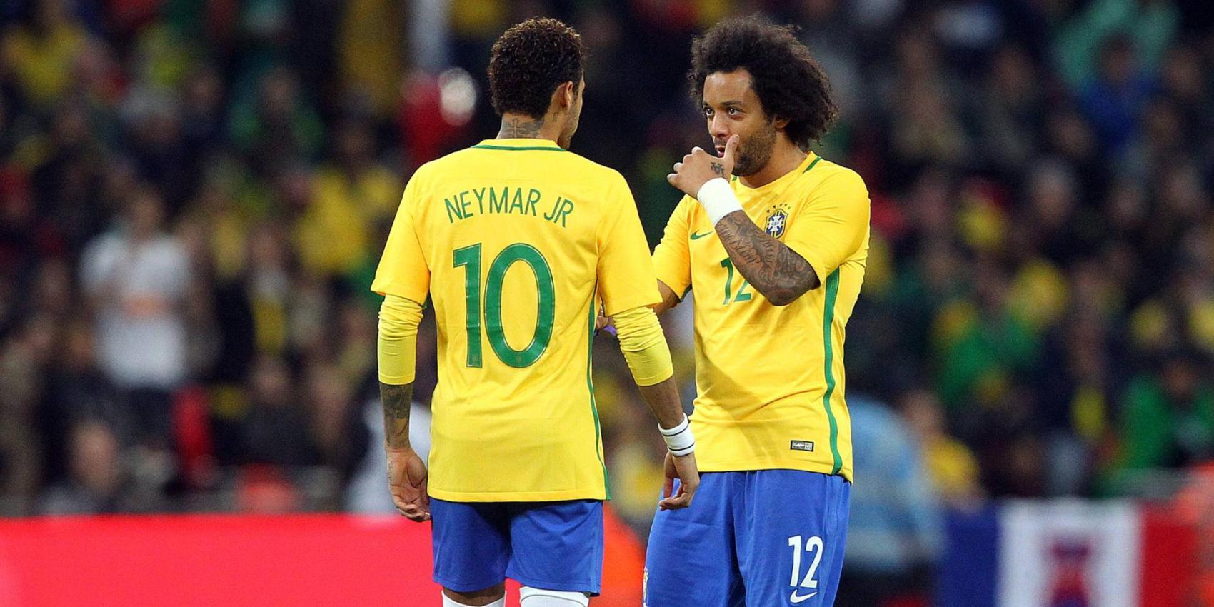 Brasiliens Stars Marcelo und Neymar