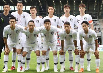 Die Nationalmannschaft von Südkorea