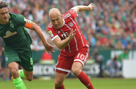 Abwärts: Delaney und Robben von BVB und Bayern