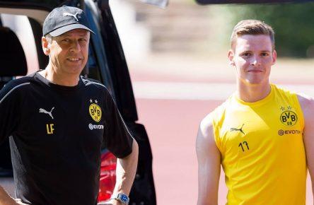 Sergio Gomez, Lucien Favre, BVB, Borussia Dortmund / imago|DeFodi