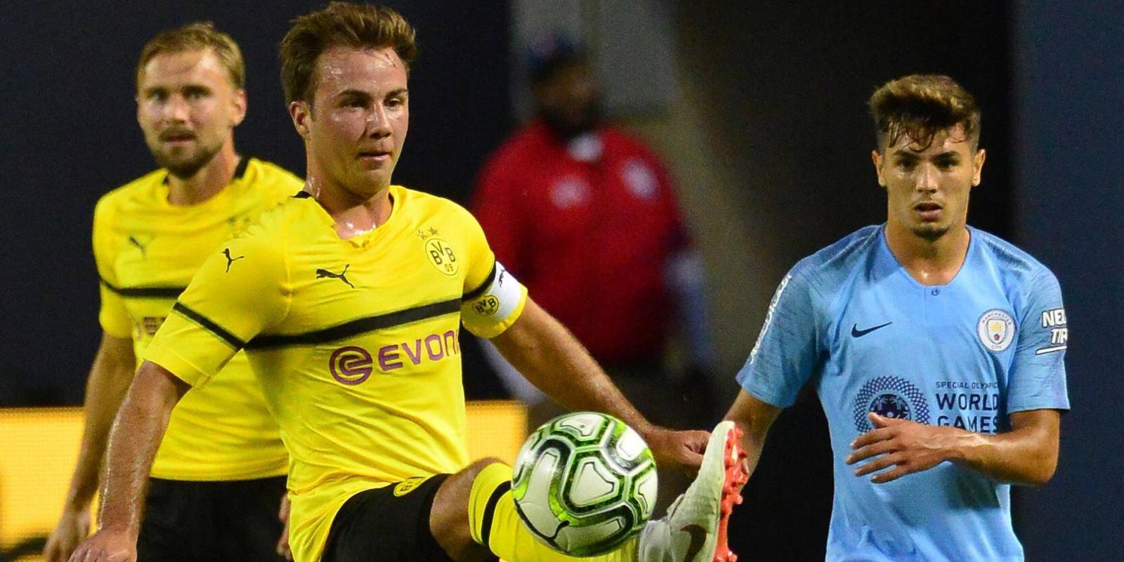 Mario Götze im BVB-Testspiel gegen Manchester City