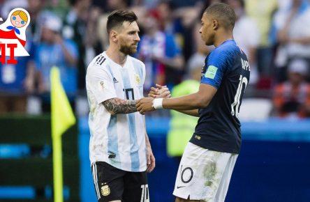 Lionel Messi und Kylian Mbappe