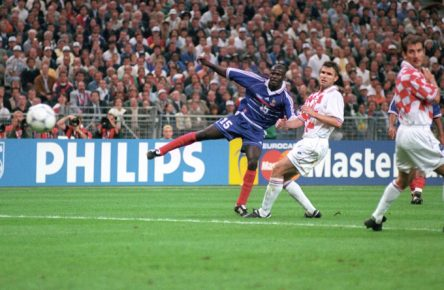 Lilian Thuram gelangen gegen Kroatien im WM-Halbfinale 1998 seine einzigen zwei Länderspieltore.