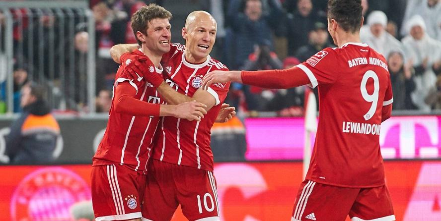 Jubeln sie heute Abend wieder? Müller, Robben und Lewandowski vom FC Bayern München