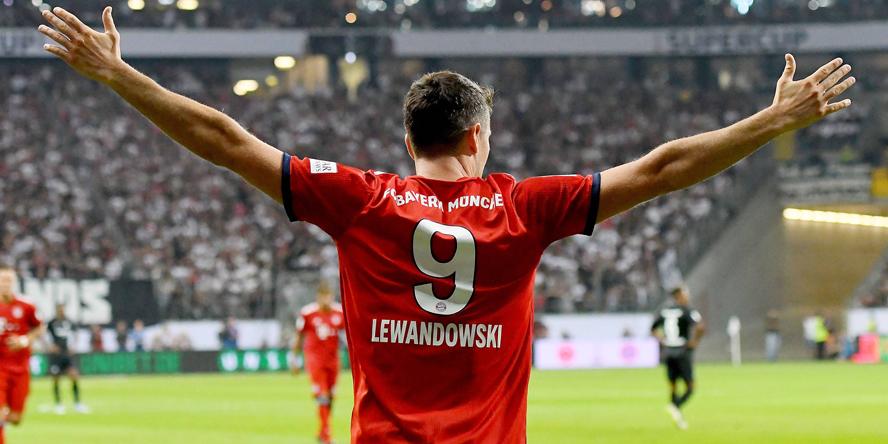 Robert Lewandowski traf im Supercup gegen Eintracht Frankfurt drei Mal.
