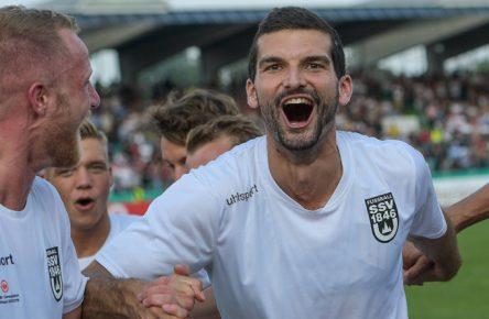 Der SSV Ulm schoss Pokalsieger Eintracht Frankfurt aus dem Wettbewerb.