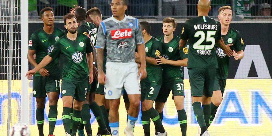 Der VfL Wolfsburg besiegte den SSC Neapel mit 3:1.