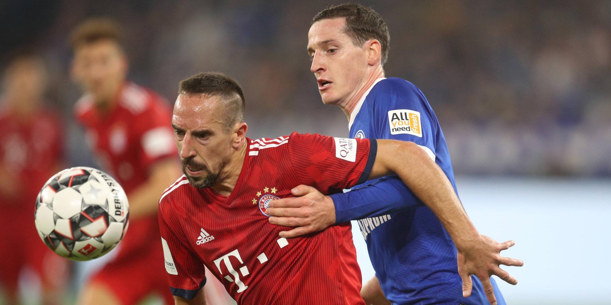 Franck Ribery und Sebastian Rudy
