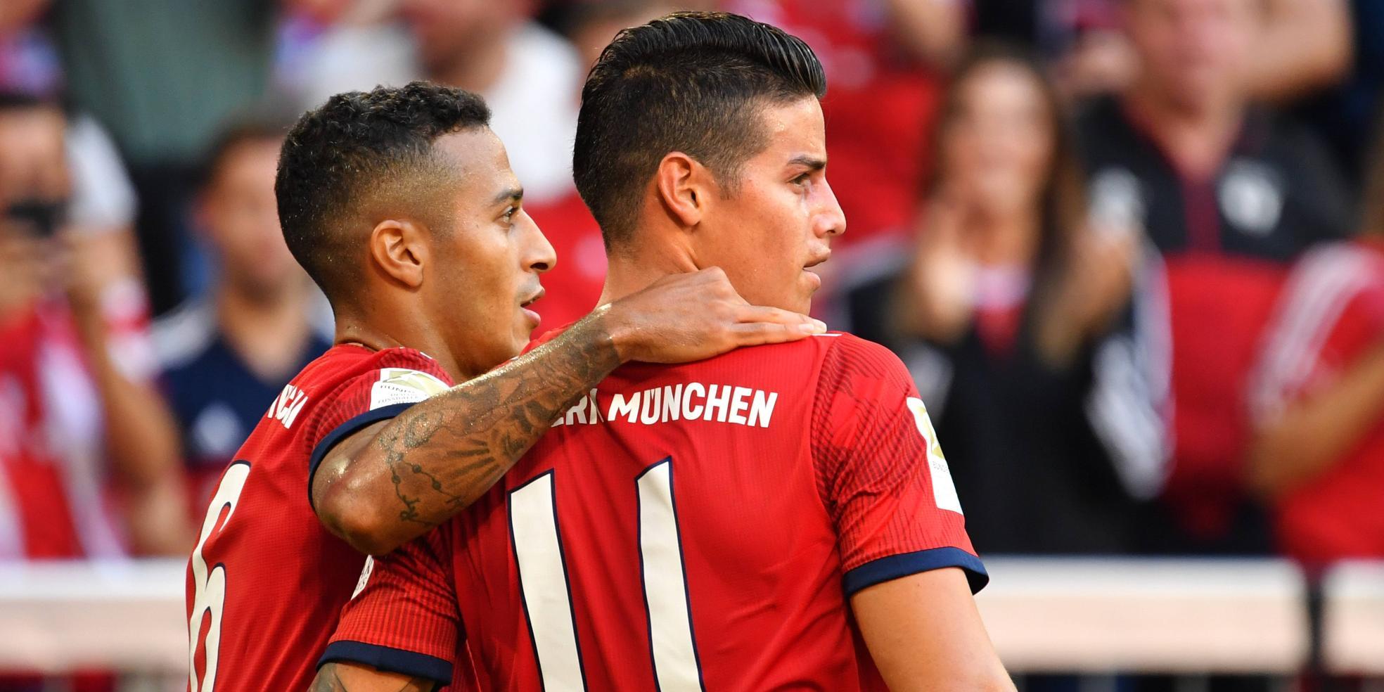 Thiago und James Rodriguez