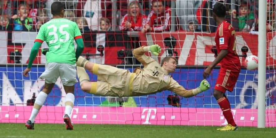 Flog am 25. Spieltag 12/13 zweimal vergeblich: Bayern-Keeper Manuel Neuer