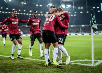 Durften endlich mal wieder jubeln: Die Spieler von Hannover 96