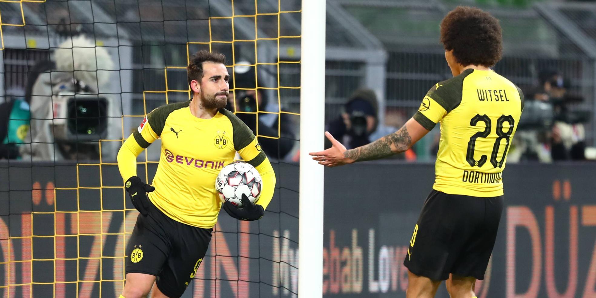 Paco Alcacer und Axel Witsel von Borussia Dortmund