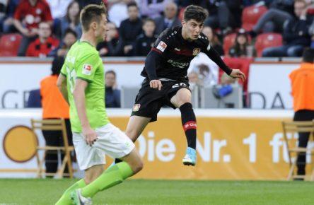 Kai Havertz erzielte gegen den VfL Wolfsburg seinen ersten Bundesliga-Treffer.
