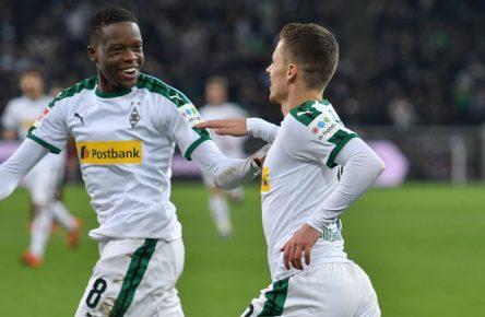 Denis Zakaria und Thorgan Hazard von Borussia Mönchengladbach