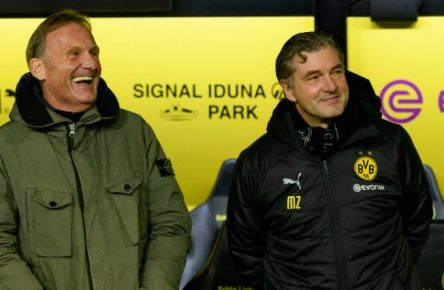Haben gut lachen: Die BVB-macher Aki Watzke und Michael Zorc