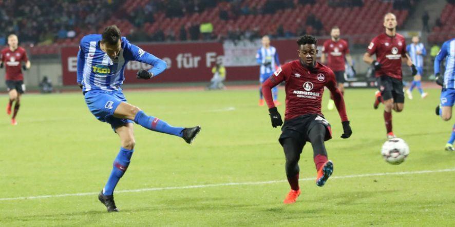 Davie Selke spielte sich bei Hertha fest