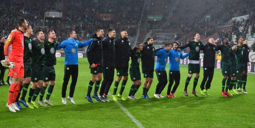 Hatten in der Hinrunde reichlich Grund zu feiern: Die Spieler des VfL Wolfsburg