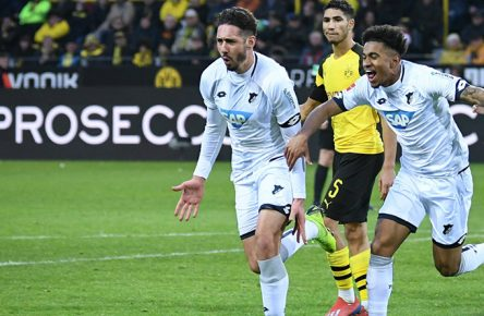 Ishak Belfodil trifft im Spiel 1899 Hoffenheim gegen Borussia Dortmund doppelt.