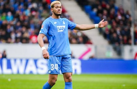 Joelinton (TSG 1899 Hoffenheim) gestikuliert // DFL regulations prohibit any use of photographs as image sequences and/or quasi-video. // GER, Fussball, 1. Bundesliga, TSG 1899 Hoffenheim - 1. FC Nuernberg, 10.03.2019 Sinsheim *** Joelinton TSG 1899 Hoffenheim gesticulated DFL regulations prohibit any use of photographs as image sequences and or quasi video GER Fussball 1 Bundesliga TSG 1899 Hoffenheim 1 FC Nuernberg 10 03 2019 Sinsheim Copyright: xEIBNER/TomxWellerx EP_eer