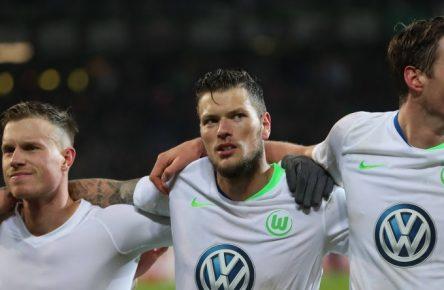 Diese drei Wolfsburger könnte man sich holen: Gerhardt, Ginzcek, Weghorst (v.l.n.r.)