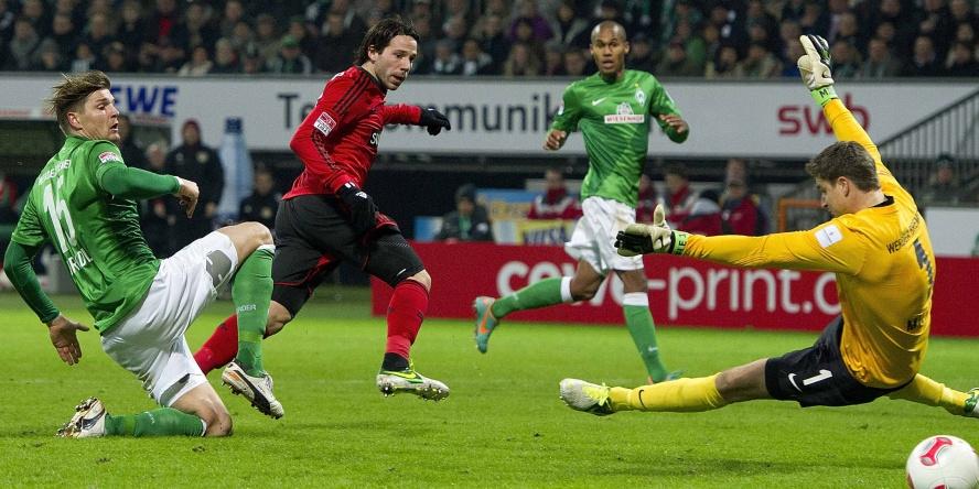 Gonzalo Castro traf gegen Werder Bremen doppelt.