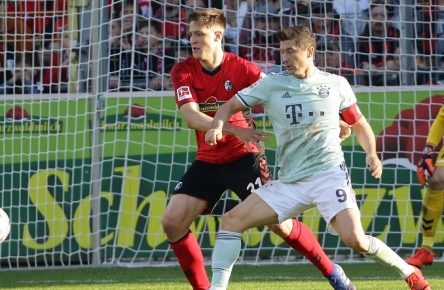 Keven Schlotterbeck Robert Lewandowski Freiburg Bayern Cropped