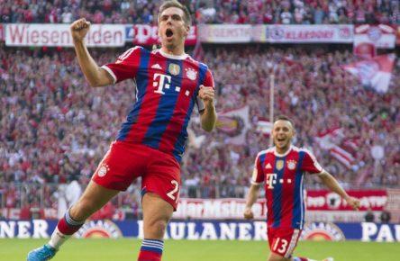 Philipp Lahm traf gegen Werder damals doppelt.